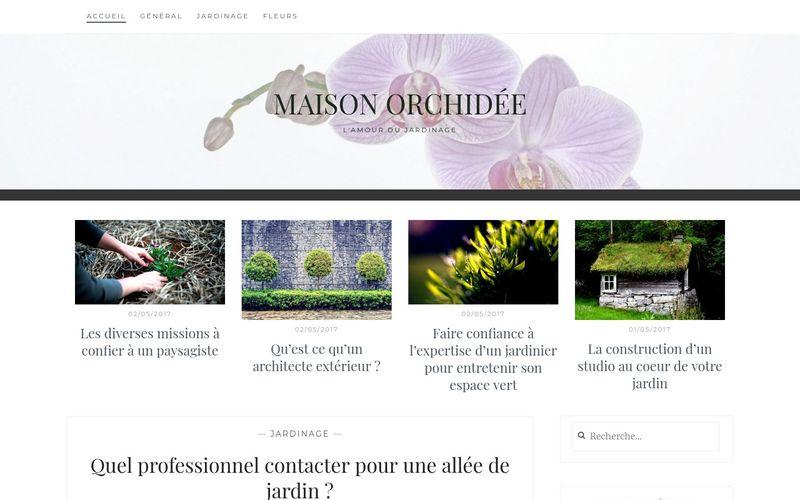 Maison orchidée - L'amour du jardinage